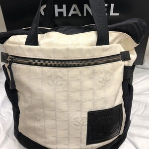 bcbf060f6dde CHANEL Sport Travel Line Nylon Backpack Tote Bag